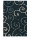 Dalyn Area Rug, Omni Shag VN1 Black 3'6   x 5'6