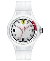 Watch, Men's Pit Crew White Silicone Strap 44mm 83
