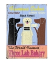 Wall Art, Three Lab Bakery Wooden Sign