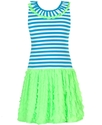 Girls Dress, Girls Striped Neon Dress