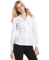 Top, Long-Sleeve French-Cuff Shirt