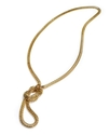 Sequin Necklace, Gold-Tone Knotted Lariat Mesh Nec