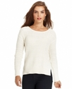 Sweater, Long-Sleeve Textured Scoop-Neck