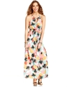 Juniors Dress, Sleeveless Printed Maxi