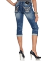 Jeans, Cropped Medium-Wash Studded