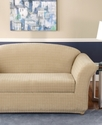 Slipcovers, Stretch Squares 2-Piece Sofa Cover Bed