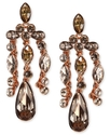 Earrings, Rose Gold-Tone Silk Swarovski Element Ch