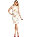Petite Dress, Sleeveless Floral-Print Sheath