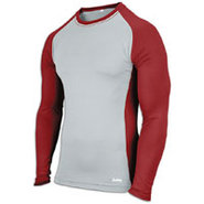 EVAPOR Baseball Compression Top - Mens - Grey/Card