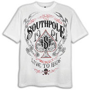 Live To Ride Scrn & Flck Print T-Shirt - Mens - Wh