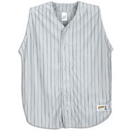Pinstripe Sleeveless Jersey - Mens - Grey/Black