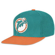 Miami Dolphins Mitchell &amp; Ness NFL XL Logo Snapbac