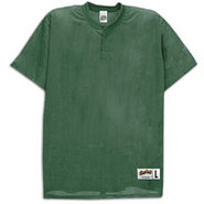 Two-Button Mesh Baseball Jersey - Mens - Forest
