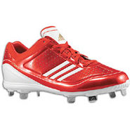adiZero Diamond King Low - Mens - University Red/W