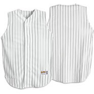 Pinstripe Sleeveless Jersey - Mens - White/Black