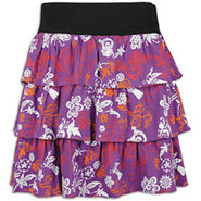Plus Size Floral Printed Ruffle Skirt - Womens - P