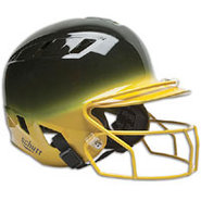Air-6 2-Color Batters Helmet with Mask - Black/Gol