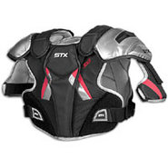 Jolt Lacrosse Shoulder Pads - Mens - White/Black