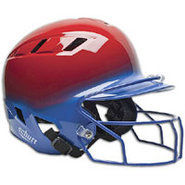 Air-6 2-Color Batters Helmet with Mask - Scarlet/R