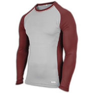 EVAPOR Baseball Compression Top - Mens - Grey/Dark