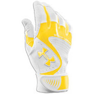Yard VI Batting Gloves - Mens - White/Gold