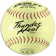 ASA Leather Slowpitch Softballs - Yellow