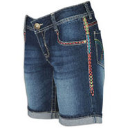Bermuda Short w/ Multicolor Stitching - Womens - D