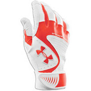 Yard VI Batting Gloves - Mens - Dark Orange/White