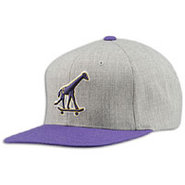 Skate Giraffe Adjustable Cap - Mens - Heather Grey