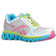 ZigLite Run - Girls Preschool - White/Buzz Blue/Ch