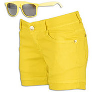 Bermuda Shorts w/ Free Sunglasses - Womens - Lemon