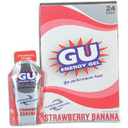 GU Energy Gel 24 Pack - Strawberry Banana