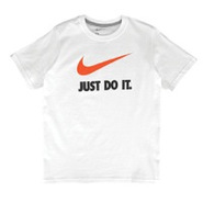 JDI Swoosh S/S T-Shirt - Boys Grade School - White