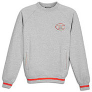 1919 Raglan 2 Tone Fleece Crew - Mens - Oxford Gra