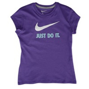JDI Swoosh S/S T-Shirt - Girls Grade School - Ultr