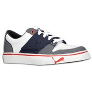 El Ace 2 - Boys Grade School - White/Steel Grey/Ne