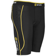 A200 Compression Half Tight - Mens - Black/Yellow