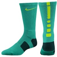 Elite Basketball Crew Sock - Mens - Atomic Teal/Da