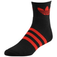 Originals Trefoil Quarter Sock - Mens - Black/Ligh