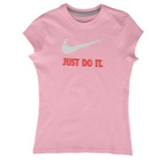 JDI Swoosh S/S T-Shirt - Girls Grade School - Ion