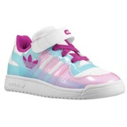 Forum Lo XL - Girls Toddler - White/Vivid Pink/Blu