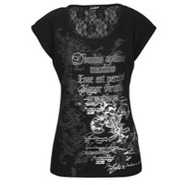 Printed Sleeveless Top - Womens - Black