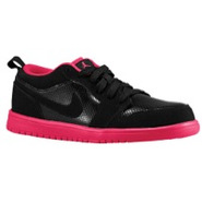 AJ1 Low - Girls Preschool - Black/Voltage Cherry