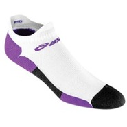 Hera Seamless Low Cut Sock - Womens - White/Purple