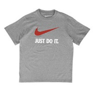 JDI Swoosh S/S T-Shirt - Boys Grade School - Dark