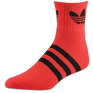 Originals Trefoil Quarter Sock - Mens - Vivid Red/