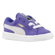Suede Classic - Girls Toddler - Liberty Blue/White