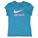 JDI Swoosh S/S T-Shirt - Girls Grade School - Neon
