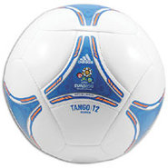 Euro 2012 Glider Ball - Whtie/Anodized Sharp Blue/