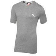 Iconic V-Neck S/S T-Shirt - Mens - Medium Grey Hea